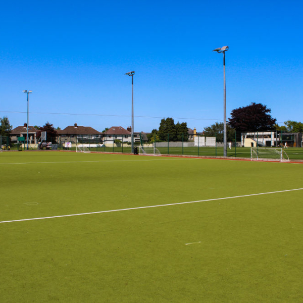 A full view on a 11 a side football pitch that is available for rent throughout the week. The pitch is located in Dublin 4 Sandymount.