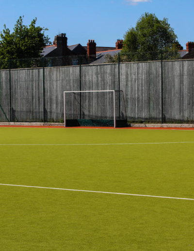A great view on a football pitch at YMCA Sandymount Dublin 4. The pitch is available for rent to play football and other games.