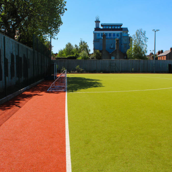 An image of showing a view of full sized astro football pitch located in Sandymount Dublin 4