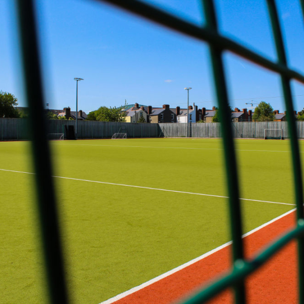 YMCA Sandymount football pitch which can be divided into three separate sections to allow multiple teams to play at the same time.
