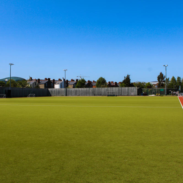 View on YMCA Dublin football field which is located in Dublin 4 Sandymount.
