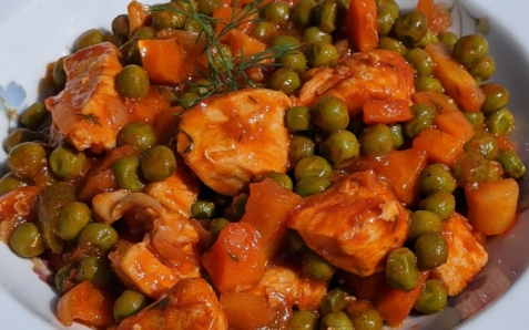 Chicken & Peas Stew