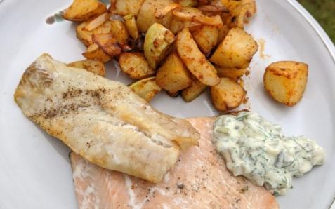 Oven Baked Fish & Veggies